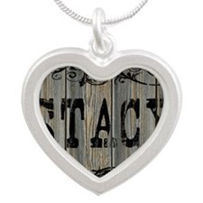 Stacy, Western Themed Silver Heart Necklace