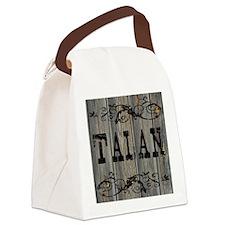 Talan, Western Themed Canvas Lunch Bag