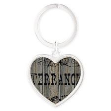Terrance, Western Themed Heart Keychain