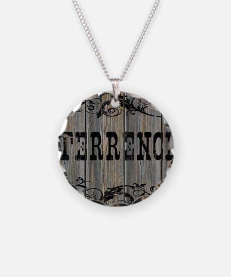 Terrence, Western Themed Necklace Circle Charm