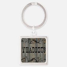 Thaddeus, Western Themed Square Keychain