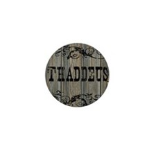 Thaddeus, Western Themed Mini Button