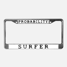 Probability Surfer License Plate Frame