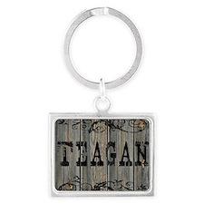 Teagan, Western Themed Landscape Keychain