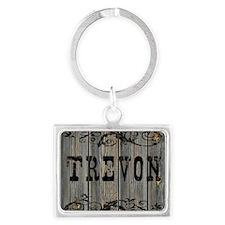 Trevon, Western Themed Landscape Keychain