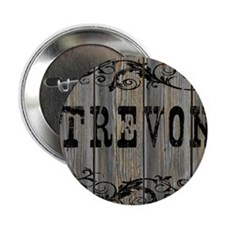 "Trevon, Western Themed 2.25"" Button"