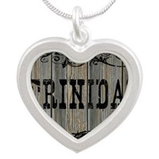 Trinidad, Western Themed Silver Heart Necklace