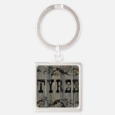 Tyree, Western Themed Square Keychain