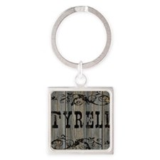 Tyrell, Western Themed Square Keychain