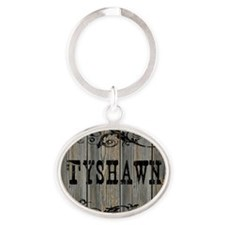Tyshawn, Western Themed Oval Keychain