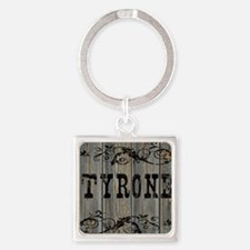 Tyrone, Western Themed Square Keychain