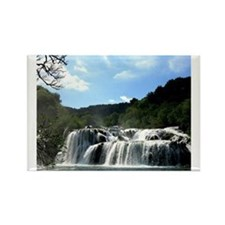 Croatia Waterfall Rectangle Magnet