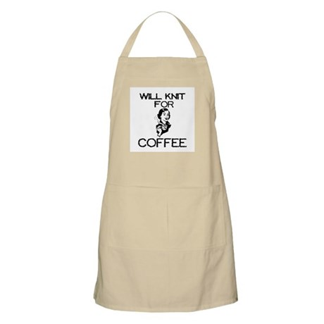 Will Knit for Coffee BBQ Apron