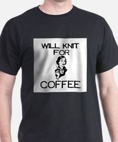 Will Knit for Coffee T-Shirt