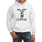 Will Knit for Coffee Hooded Sweatshirt