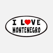 I Love Montenegro Patches