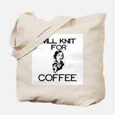 Will Knit for Coffee Tote Bag