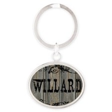 Willard, Western Themed Oval Keychain