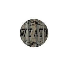 Wyatt, Western Themed Mini Button