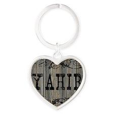 Yahir, Western Themed Heart Keychain