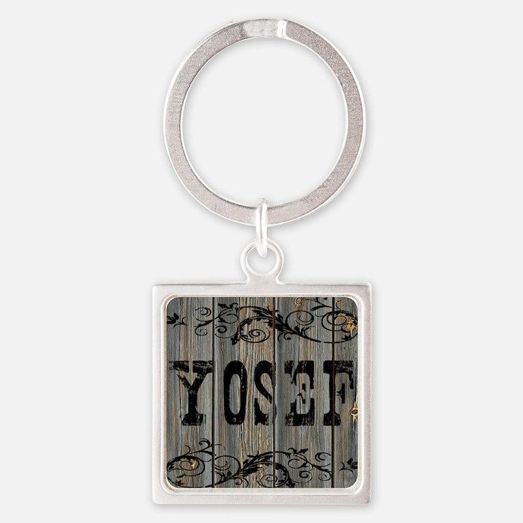 Yosef, Western Themed Square Keychain
