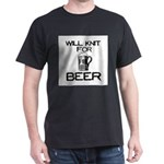 Will Knit for Beer Dark T-Shirt