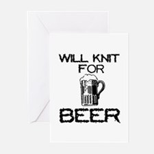 Will Knit for Beer Greeting Cards (Pk of 10)