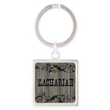 Zachariah, Western Themed Square Keychain