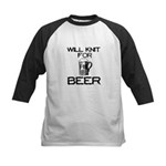 Will Knit for Beer Kids Baseball Jersey