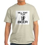 Will Knit for Beer Light T-Shirt