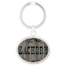 Zachery, Western Themed Oval Keychain