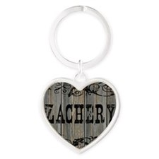 Zachery, Western Themed Heart Keychain