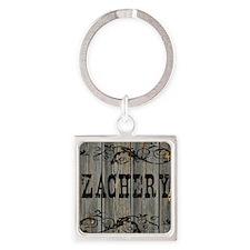 Zachery, Western Themed Square Keychain