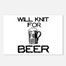 Will Knit for Beer Postcards (Package of 8)