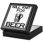 Will Knit for Beer Keepsake Box