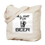 Will Knit for Beer Tote Bag