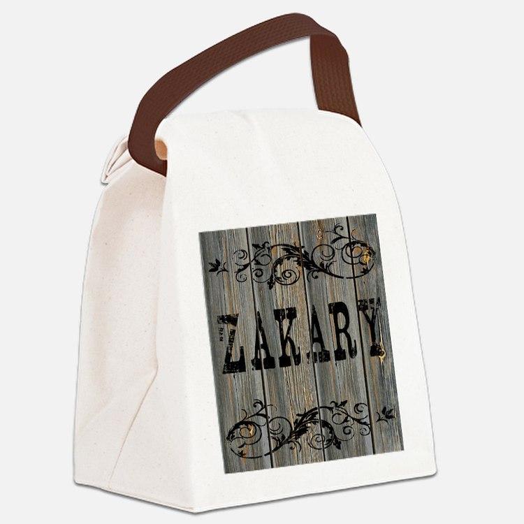 Zakary, Western Themed Canvas Lunch Bag