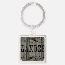 Zander, Western Themed Square Keychain