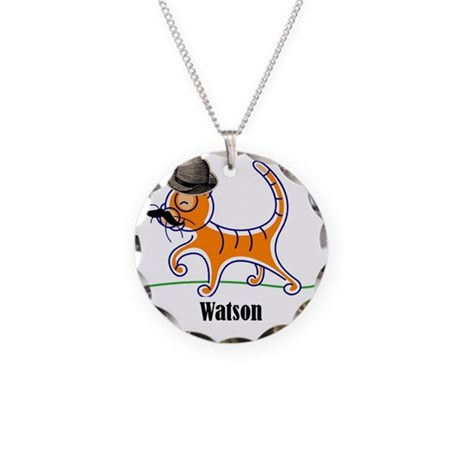 Waston - Sherlock Holmes Necklace Circle Charm
