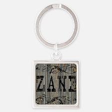 Zane, Western Themed Square Keychain