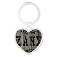 Zane, Western Themed Heart Keychain