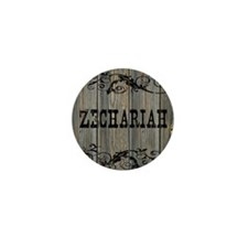 Zechariah, Western Themed Mini Button