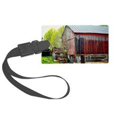 The Old Red Barn Luggage Tag