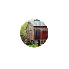 The Old Red Barn Mini Button