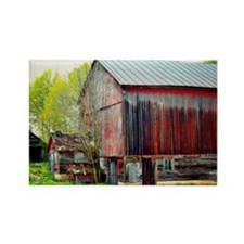The Old Red Barn Rectangle Magnet