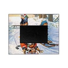 Thiele Cats Sled 2_SQ Picture Frame