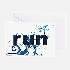 runblue_sticker Greeting Card