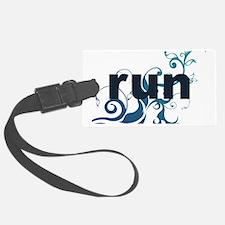 runblue_sticker Luggage Tag