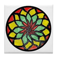 Rasta Flower Tile Coaster