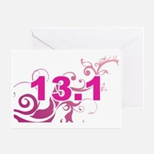 13.1_sticker_pink Greeting Card